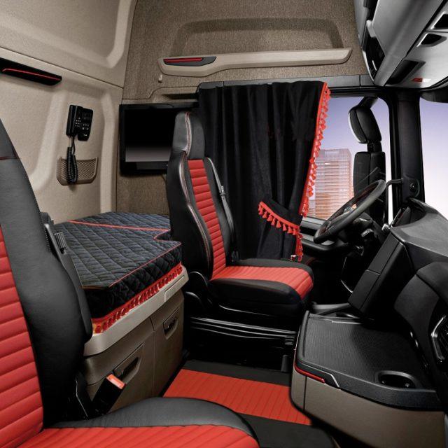 Kit interni cabina black scania serie s for Kit di cabina e cottage